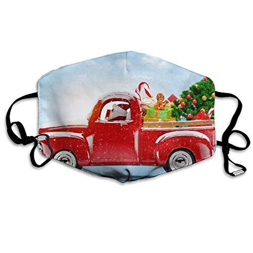 Polyester Anti-Dust Mond Masker - Kerstman Leuke Kat Gewassen Herbruikbare Mond-Muffle - Mode Gedrukte Gezichtsmaskers voor Outdoor Fietsen Eén maat De kerstman is naar de stad gekomen