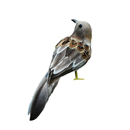 Homyl Künstliche Lebensechte Feder Vogel Dekovogel Kunstvogel Waldvogel Modell Dekor - B
