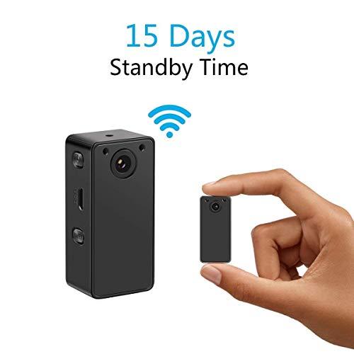 RMXMY Mini cámara Oculta con WiFi, cámara de Seguridad inalámbrica con cámara espía HD 1080P para la niñera casera con detección de Movimiento de visión Nocturna, construida