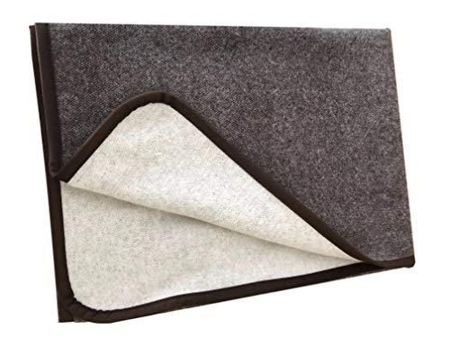 Alpenwolle Kaschmirplaid, Wolldecke, Tagesdecke, Überwurf, Plaid doppelseitig in Schokobraun/Creme (150x200cm)