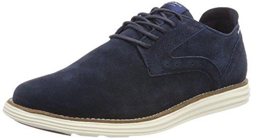 Pepe Jeans London Derry Suede, Zapatos de Cordones Oxford Hombre, Azul (Navy), 42 EU