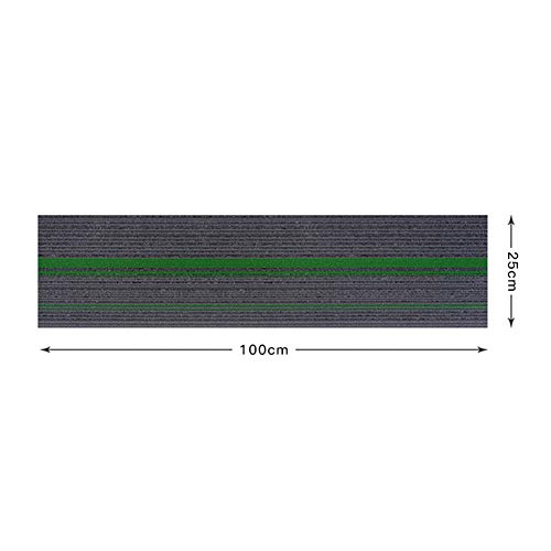 Matten tapijt tegel 25 x 100 cm/10 x 39.4 Inch - Office Hard dragende vloertegels Pack van 4