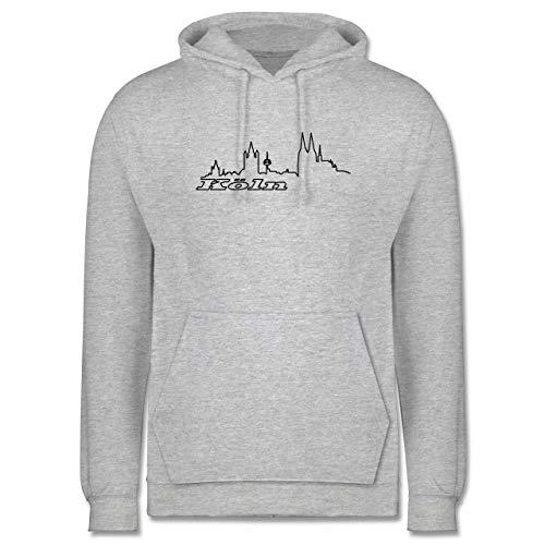 Shirtracer Skyline - Köln Skyline - XL - Grau meliert - köln Hoodie 5XL - JH001 - Herren Hoodie und Kapuzenpullover für Männer