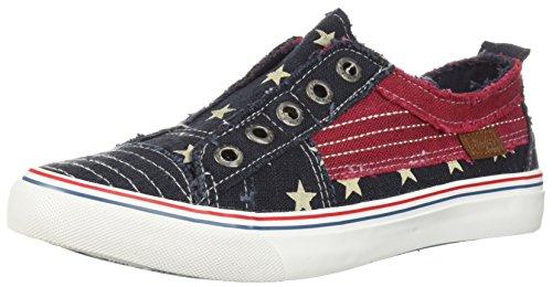 Blowfish Malibu Women's Play Sneaker, Navy Star, 6 M US