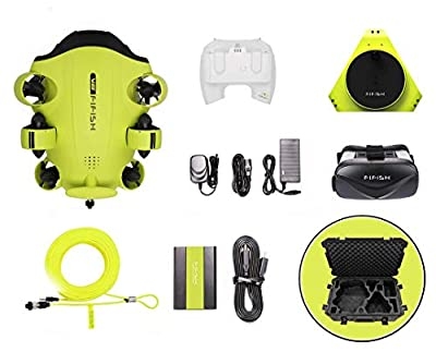 QYSEA FIFISH V6 Underwater Drone with 4K UHD Camera, Industrial Case, 4000lm LED, VR Glasses, APP Remote Control, Dive to 330ft, Adjustable Tilt-Lock, ROV for Real-Time Viewing, Fishing Camcorder by morpilot