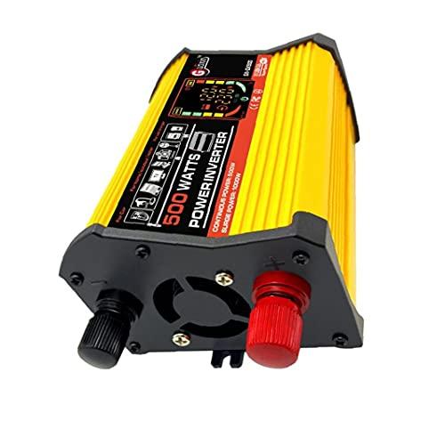 Power Inverter DC 12V a 110V AC convertidor de energía de onda sinusoidal pura del adaptador del cargador 500W inversor de la energía del coche, inversor