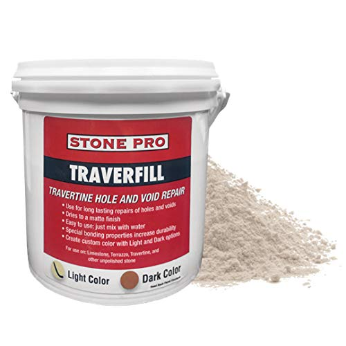 StonePro – Traverfill Light (1 Lb.) (for Repairing Holes in Travertine)