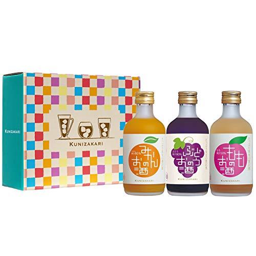 中埜酒造 果汁リッチのお酒(みかん ぶどう もも) 飲み比べセット [ リキュール 300mlx3本 ]