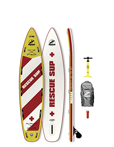 Indiana 11'6Rescue Inflatable SUP Board (incl. Back Pack with Wheels, Pump, fin & Rep. Kit)