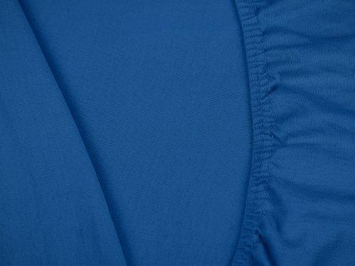 #13 npluseins Kinder-Spannbettlaken, Spannbetttuch, Bettlaken, 70×140 cm, Royalblau - 5