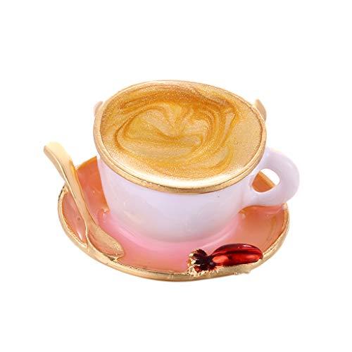 Harilla Emaille Cartoon Kaffee Teebeutel Tasse Becher Brosche Corsage Jacke Shirt Kragen Pin