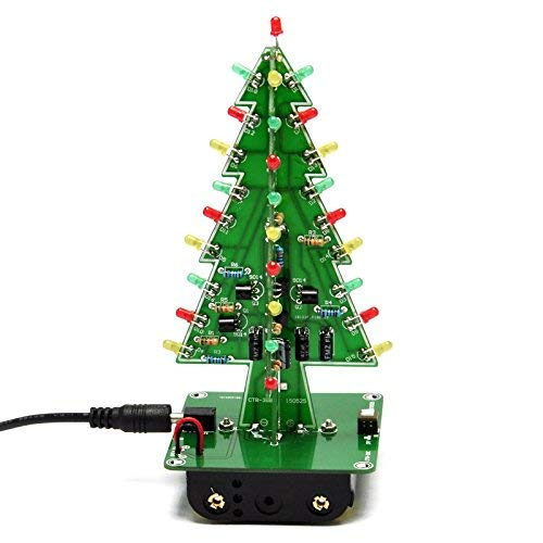 Gikfun 3D Christmas Tree Led DIY Kit Flash Circuit LED EK1719U