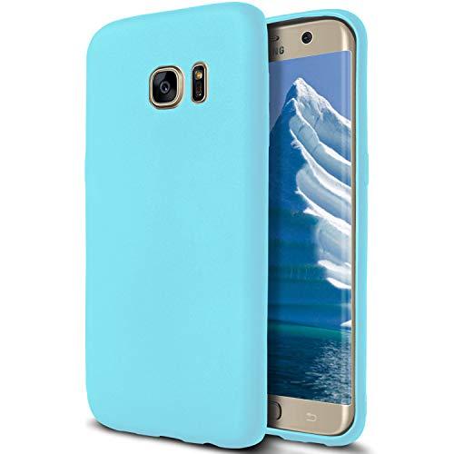 MYCASE Hülle Passend für Samsung Galaxy S7   Türkis Silikon Schutzhülle Handy Hülle