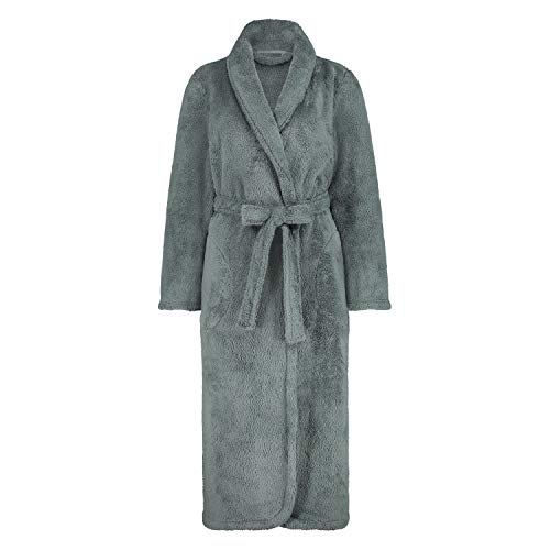 HUNKEMÖLLER Fleece-Bademantel lang grün XL/XXL