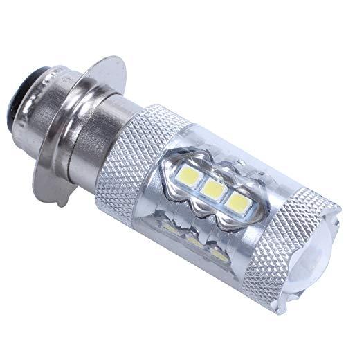 HEYB Bombillas LED H6 para faros delanteros, 12 V, xenón blanco, P15D-1/H6M, 80 W, luz antiniebla, luz indicadora automática, 6000 K, aparcamiento LED automático, 12 V, reemplaza la luz de xenón.