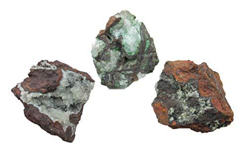 Steinfixx Hemimorphit 3 Stück Rohsteine Santa Eulalia Mexiko