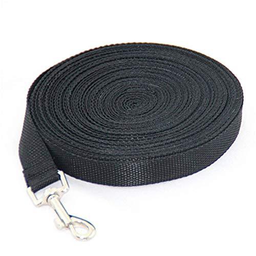 JIANGAA Perro Playa 3M Collares para Perros Grandes Cuerda de Nylon Long Leash para Perros Pascua Perrito Entrenamiento Cuerda de Plomo 3m Negro (Color : Black, Size : 3m)