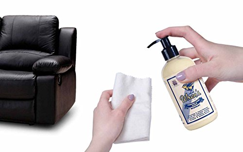 Wren's Furniture Lotion Classic, Cleans Nourishes & Protects Leather Furniture, 3 In 1, Quality And Prestige Since 1889, 300 Ml – 10.14 Fl. Oz.
