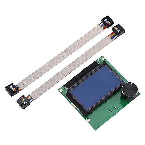 Tosuny LCD Screen for Creality CR-10S / S4 / S5, CR10s LCD Screen, Replacement LCD Screen Controller Display with 2 Cable for Creality CR-10S 3D Printer, 3D Printer Kit Accessory