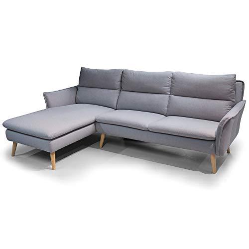 place to be. 3-Sitzer Sofa + Recamiere Eck-Sofa Eck-Couch Ecksofa skandinavisch auf Holzfüssen 3er Ecksofa + Holzbeinen und hochwertigem skandinavischen Stoffen