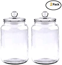 Maredash Glass Jars,Candy Jar With Glass Lid For Household- 1 Gallon (SET OF 2) …