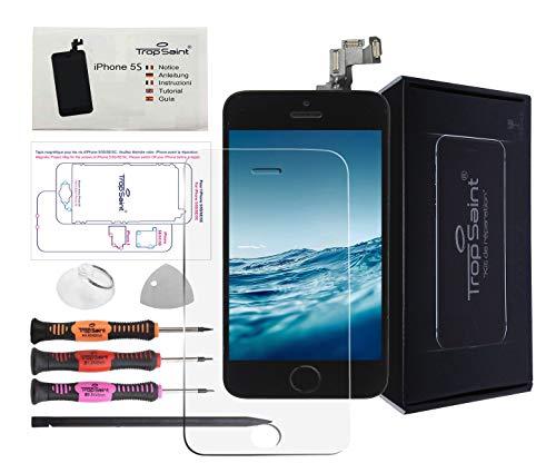 Trop Saint® Vetro Schermo Nero Kit di Riparazione per iPhone 5C Ricambio Completo LCD Display con Istruzioni, Attrezzi e Pellicola Protettiva