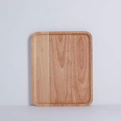 MYYXGS Essteller Aus Holz Essteller Home KüChe Essteller Praktische Holzplatte Rechteckige Essteller Aus Holz Dessert Obstteller