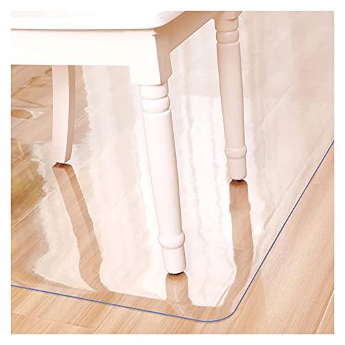 ZWYSL Bodenschutzmatte Tapis PVC Tapis d'entrée Rechteckiger Transparenter Bodenschutz Öl-und Kratzfest Anpassbar Tapis Protège-Sol Office (Color : Clear-2mm, Size : 90x130cm)