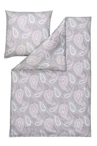 ESTELLA Mako Interlock Jersey Bettwäsche 2 teilig Bettbezug 135 x 200 cm Kopfkissenbezug 80 x 80 cm Amalia Platin