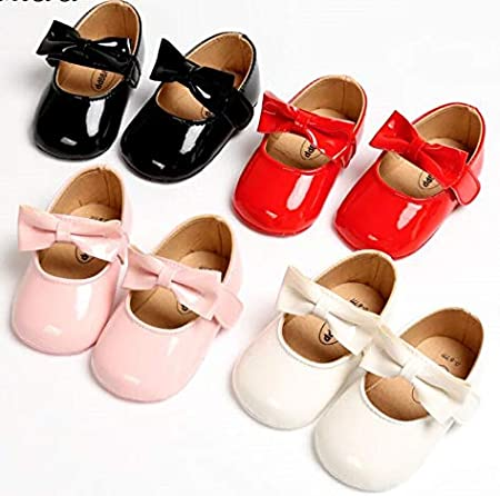 PU Newborn Baby Girls Crib Prewalker Trainer Pram Shoes Soft Sole Cute Soft 0-18