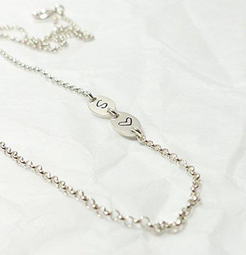 Andressâ Namenskette sideways Initialen 925 Silberkette