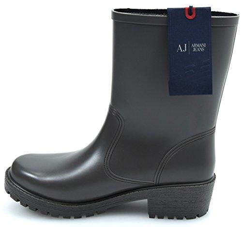 Armani Jeans Damen Stiefel Gummistiefel Boots Gummi Made IN Italy Art. U5587 40 Grigio Grey