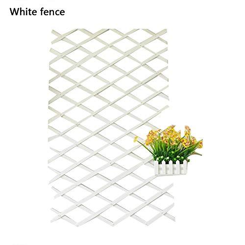 Class-Z Gartenzaun Rankhilfe Rankgitter Holzzaun Pflanzengitter, zusammenfaltbar und variabel verstellbar, künstlicher Gartenpflanze-Zaun UV schützen Privatleben-Schirm im Freien Innen, 120 cm