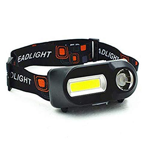 AeeYui Stirnlampe, wiederaufladbar, mit USB-Kabel und 18650 Batterien, wasserdicht, leistungsstarke Stirnlampe, LED, 6 Leuchtmodi, verstellbar