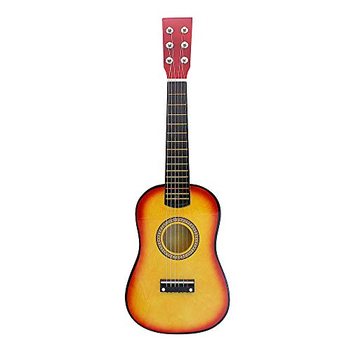 PIckup Mini 6 String Multi colors 23 Inch Practice Acoustic Guitar Beginners For Children Kids(yellow)