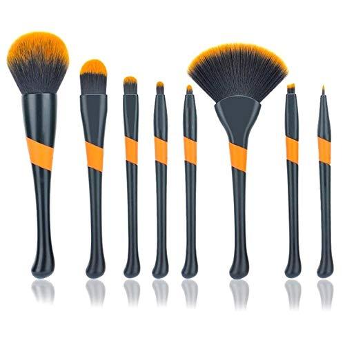 HZD 8Pcs Eyeshadow Makeup Brushes Contour Blending Cosmetic Brushs Makeup Brushes Set Cosmetic Concealer Brushes,Black