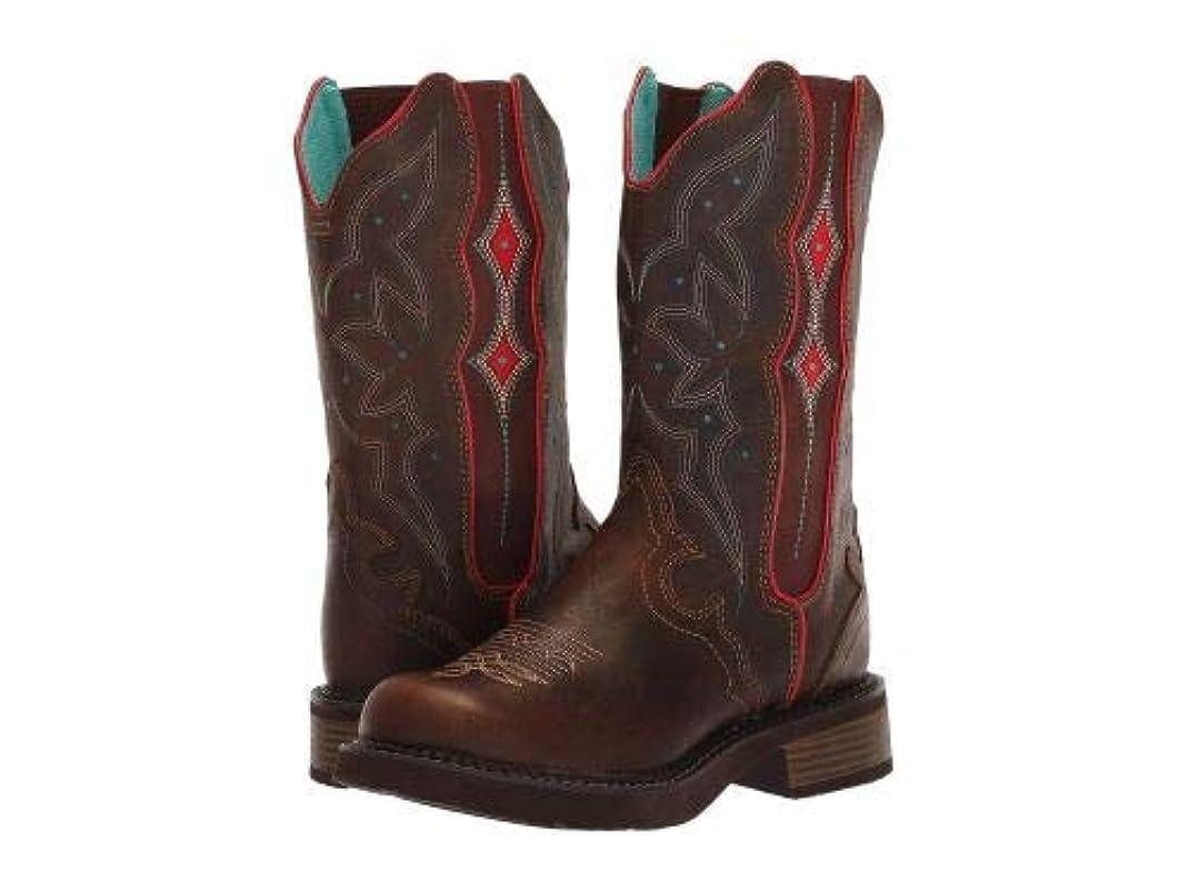 長老徒歩でシーサイドJustin(ジャスティン) レディース 女性用 シューズ 靴 ブーツ ウエスタンブーツ Heritage Gore - Chocolate [並行輸入品]