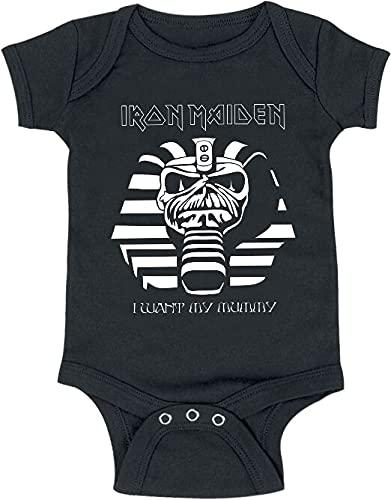 Iron Maiden Kids Collection - Powerslave Line Unisex Body Negro 68/74, 100% algodón,