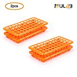 ULAB Scientific Test Tube Rack with Silicon Rubber Gasket, for Tubes of Diameter from 10mm to 18mm. 50Holes,...