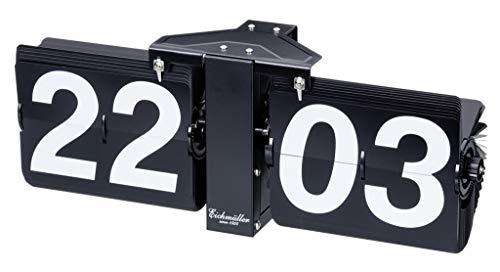 Eichmüller since 1950 Deko Flip Uhr - Tischuhr - schwarz schwarz