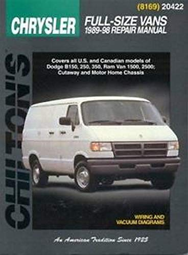 Dodge Vans, 1989-98 (Chilton Total Car Care Series Manuals)