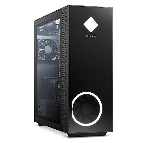 OMEN GT13-0019ng Gaming Desktop (Intel Core i7-10700K, HyperX XMP RGB 16 GB DDR4, WD BLK 512 GB SSD, 1TB HDD, nVidia Geforce RTX 3080 10 GB GDDR6X, Windows 10 Advanced) nero con finestra laterale