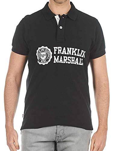 Polo Franklin Marshall Piquet Classic negro para hombre, talla L, XL, 2XL, 3XL A9/29