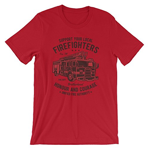 Ground 29 Support Your Local Firefighters T-Shirt (X-Large)