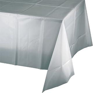 غطاء طاولة بلاستيك مستطيل الشكل من كرياتيف كونفيرتينغ، فضي