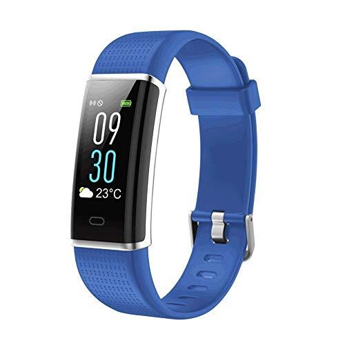 Smart Bracelet ID130C Bracelet of The Color Screen Sport Bracelet Dynamic Heart Rate Call Information Reminder Waterproof smartwatch (Color: Blue)