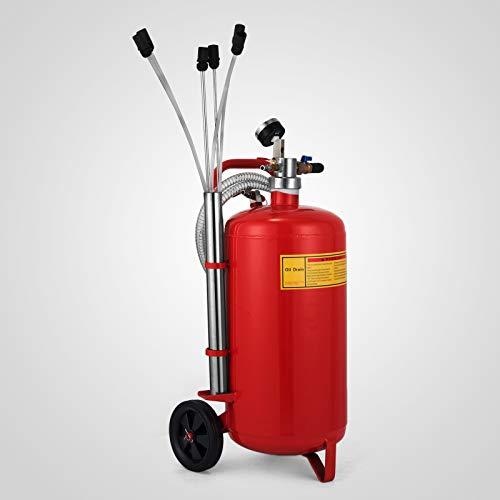 VEVO 22.7Liter Ölabsauggerät, 8-10 bar Ölabsauger pneumatisch Pneumatik, 12,5 kg Öl extraktor Ölwechsel, Ölabsauggerät
