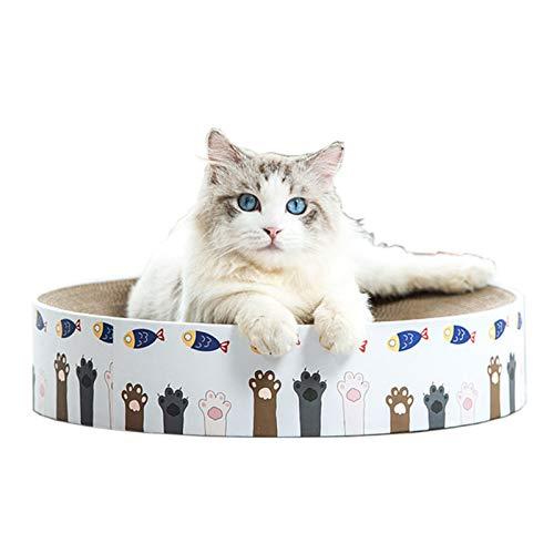 BCCDP Rascador para Gatos Rascadoras Carton Reciclado Corrugado Alfombrillas de Carton Rascador de Gato Juguete para Gatos Cama Cartón Sofá para Gatito Resistente Arañazos