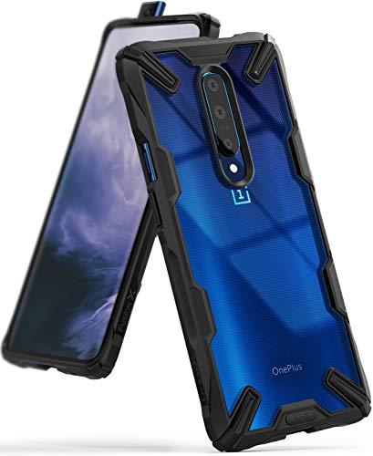Ringke Fusion-X Gestaltet für OnePlus 7 Pro Hülle, Transparent Rückseite Renovierter TPU Rahmen Bumper Stoßfänger Doppelter Schutz Case für OnePlus 7 Pro (2019) - Schwarz