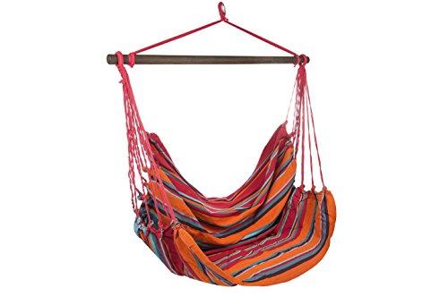 Hängesessel XL aus Baumwolle Fair gehandelt Größe: ca. 130 x 125cm (Indira)